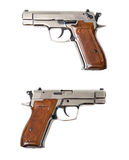 Chrome fort-12r traumatic gun Royalty Free Stock Images