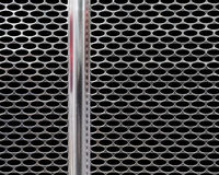 Chrome front grill pattern Royalty Free Stock Image