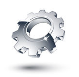 Chrome gear Royalty Free Stock Image