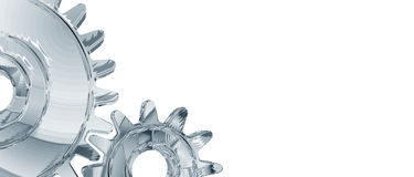 Chrome Gears Background Royalty Free Stock Photo