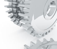 Chrome gears Stock Images
