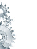 Chrome gears on white Stock Photo