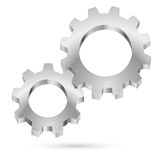 Chrome gearwheel. On white background for design Royalty Free Stock Images