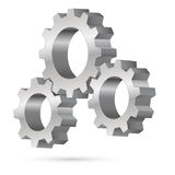Chrome gearwheel Stock Photos