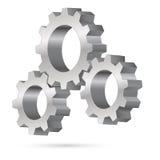 Chrome gearwheel. Illustration on white background Stock Photos