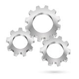 Chrome gearwheel Royalty Free Stock Photo