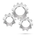 Chrome gearwheel. Illustration on white background for design Royalty Free Stock Photo