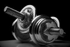 Chrome-Gewichte Lizenzfreies Stockfoto