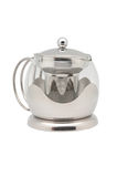 Chrome and Glass Teapot Stock Images