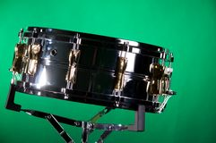 Chrome and  Gold Snare Drum Stock Photography