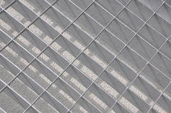 Chrome grate in perspective Royalty Free Stock Image