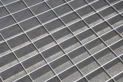 Chrome grate in perspective Royalty Free Stock Photography
