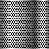Chrome grid metal background. Royalty Free Stock Photography