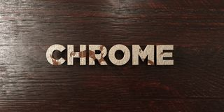 Chrome - grungy wooden headline on Maple  - 3D rendered royalty free stock image Stock Photos