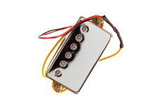 Chrome guitar pickup Royalty Free Stock Photos