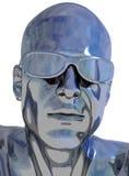 Chrome head royalty free illustration