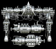 Chrome header and parts Stock Image