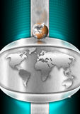 Chrome Heart Globe Business Background Royalty Free Stock Images