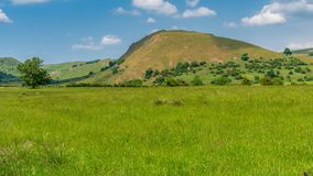 Chrome Hill near Buxton, England, UK. Peak District landscape with Chrome Hill, near Hollinsclough in the East Midlands, Derbyshire, England, UK royalty free stock images