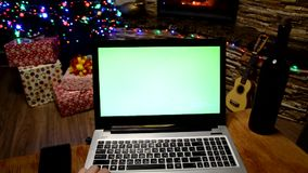 Chrome key computer holiday business time stock video