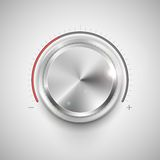 Chrome Knob Royalty Free Stock Images