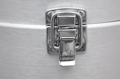 Chrome Latch on Aluminum Royalty Free Stock Photography