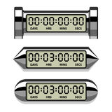 Chrome LCD counter - countdown timer Stock Photography