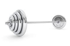 Chrome Lifting Weight Royalty Free Stock Photography