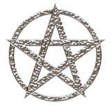 Chrome martillado Pentagram Fotos de archivo libres de regalías