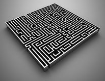 Chrome Maze Royalty Free Stock Photography