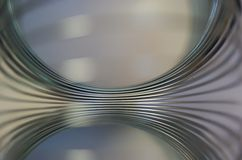 Chrome-metaal abstracte achtergrond Stock Foto's