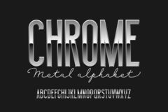 Chrome Metal Alphabet Royalty Free Stock Photos