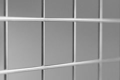 Chrome metal grid - backtround Stock Images