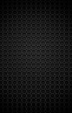 Chrome metal grid. Illustration of chrome bilayer black metal grid with rounded honeycombs Royalty Free Stock Images