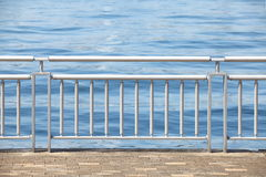 Chrome Metal Guard Rail Stock Photo