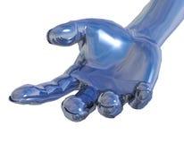 Chrome metal hand Royalty Free Stock Image