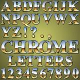 Chrome metallbokstäver Arkivfoto