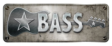 Chrome/metallic bass banner Royalty Free Stock Photography