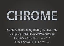 Chrome metallic font Stock Photography