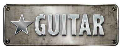 Chrome/metallic 'Guitar' banner Stock Photography