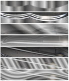 Chrome metallic Headers set Stock Image