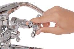 Chrome metallic shower Stock Photography