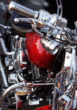 Chrome motorcycle. Stylish chromed motorcycle very usable ad background Royalty Free Stock Image