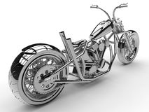 Chrome motorcycle illustration Stock Images