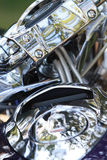 Chrome motorcycle Stock Photography