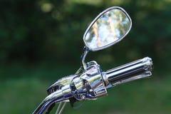 Chrome motorcykel Royaltyfri Foto