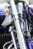 Chrome motorcykel Royaltyfria Foton