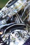 Chrome motorcykel Arkivbild