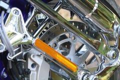 Chrome-motorfiets Stock Fotografie