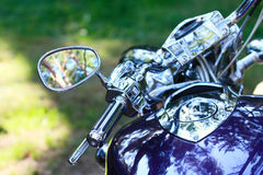 Chrome-motorfiets Royalty-vrije Stock Afbeeldingen